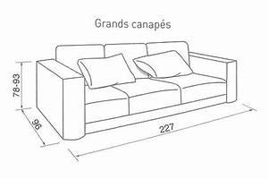 quelle taille pour mon canape cote maison With dimension canapé 3 places