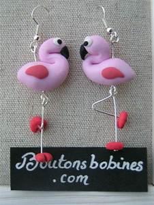Bijoux Flamant Rose : boucles d 39 oreilles flamant rose fimo pinterest ~ Teatrodelosmanantiales.com Idées de Décoration