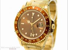 Rolex GMTMaster II Tiger Eye Ref16718 18K Yellow Gold Bj