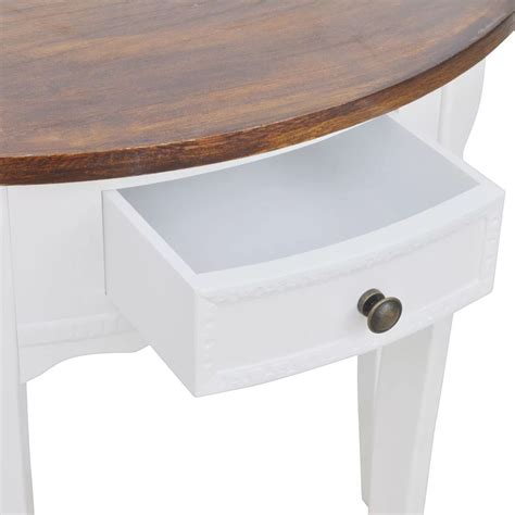 half circle console table with drawers white half round console table with drawer brown top