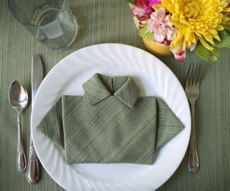 pliage de serviette facile  original  idees