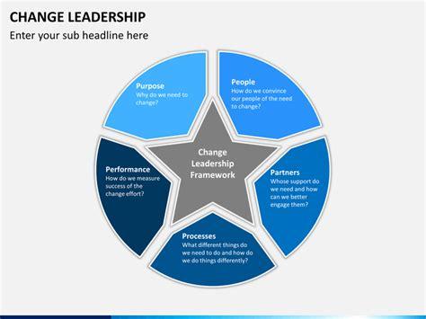 change leadership powerpoint template sketchbubble