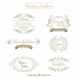 ornamental wedding emblems vector free download With wedding cards vector images free download