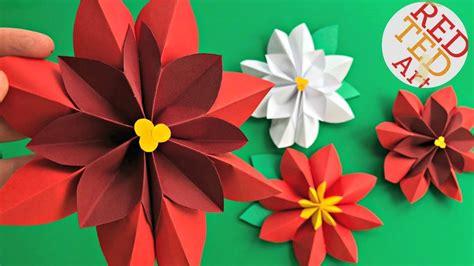 paper flower diy easy poinsettia decor diy diy
