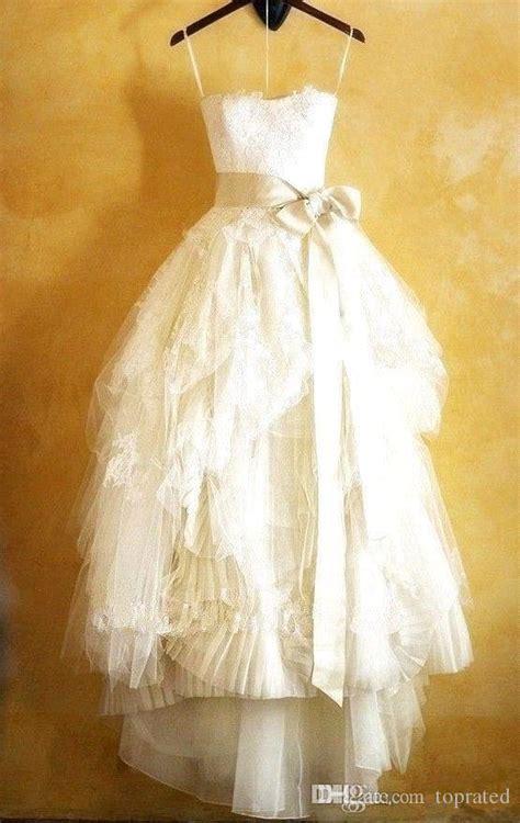 discount vintage full lace wedding dresses tea length