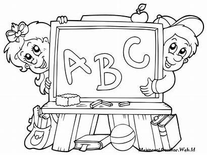 Anak Mewarnai Gambar Kartun Sekolah Tk Untuk