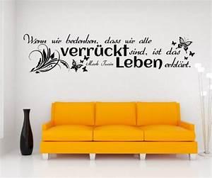 Wandtattoos Von Tine Wittler : wandtattoo spruch leben wandsticker zitate zitat weisheit mark twain 5d434 farbe schwarz matt ~ Sanjose-hotels-ca.com Haus und Dekorationen