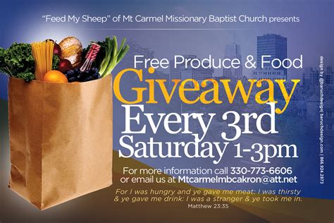 Cleveland Food Pantry by Mt Carmel Mbc Invitations