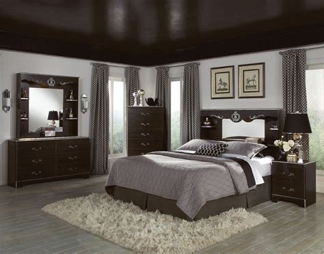 bedroom wall colors  dark brown furniture home