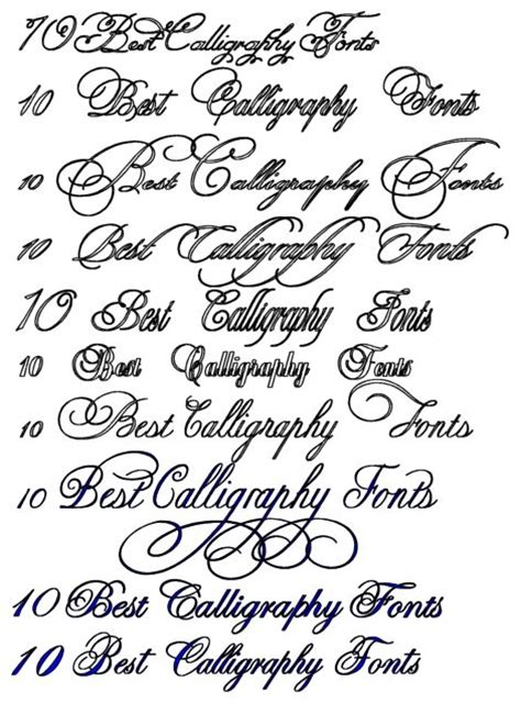 calligraphy fonts calligraphy tattoo design art