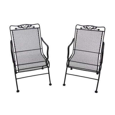 arlington house glenbrook black patio chairs 2