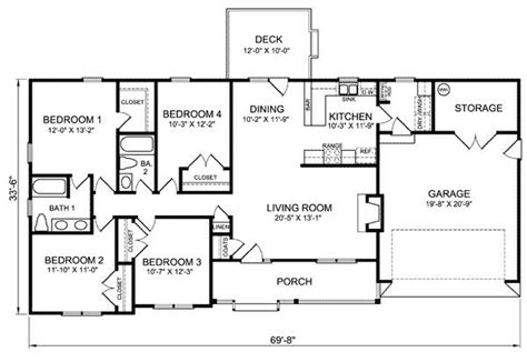 Luxury Four Bedroom Ranch House Plans New Home Plans Design