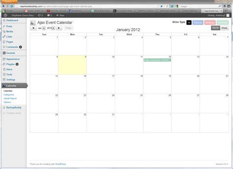 ajax event calendar video wordpress blog articles