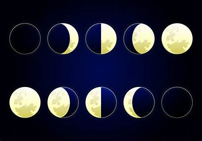 Moon Phase Phases Svg Luna Drawing Icons