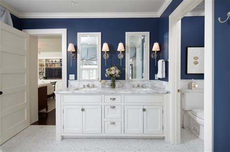 Navy Blue Bathroom Vanity Cabinet by Easy Tips To Help You Decorating Navy Blue Bathroom Home