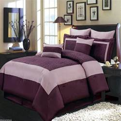 8pc luxury comforter set wendy purple bedding set with pillows and shams ebay