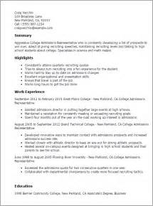 college entrance resume template professional college admissions representative templates to showcase your talent myperfectresume
