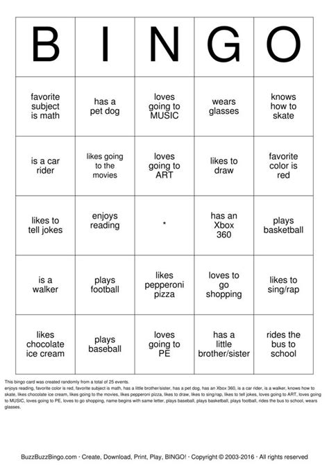 Favorite Character Bingo Template Human Bingo Bingo Cards To Print And Customize