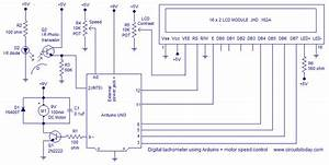 Digital Tachometer Using Arduino Plus Motor Speed Control