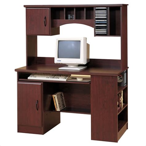 wood desk with hutch south shore park wood w hutch cherry computer desk ebay