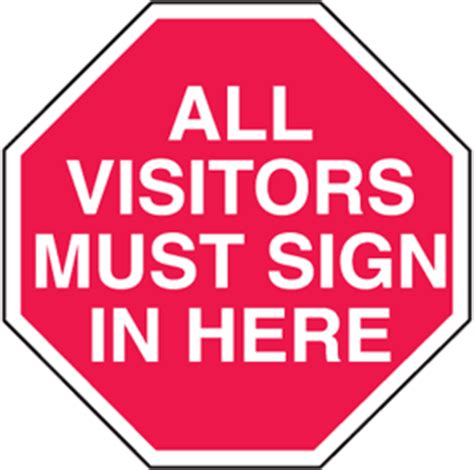 All Visitors Must Sign In Template by Visitor Sign In Clipart