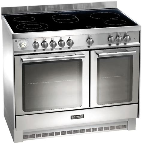 buy baumatic bce925ss 90cm electric range cooker stainless steel marks electrical