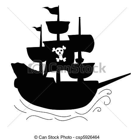 Barco Pirata Negro by Eps Vector De Pirata Barco Negro Ilustraci 243 N Silueta