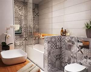 carrelage mural salle de bain panneaux 3d et mosaiques With carrelage salle de bain petit carreaux