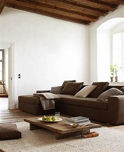 Braunes Sofa Welche Wandfarbe : wohnzimmer ideen braunes sofa ~ Watch28wear.com Haus und Dekorationen
