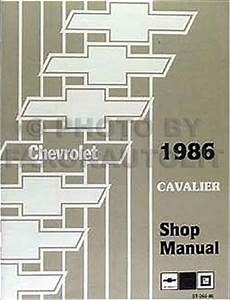 1986 Chevy Cavalier Repair Shop Manual Original