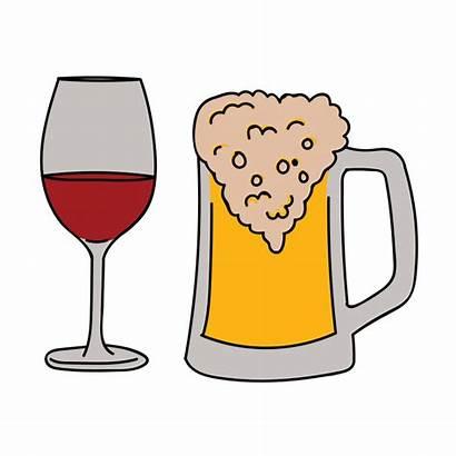 Beer Wine Clipart Glasses Glass Champagne Tasting