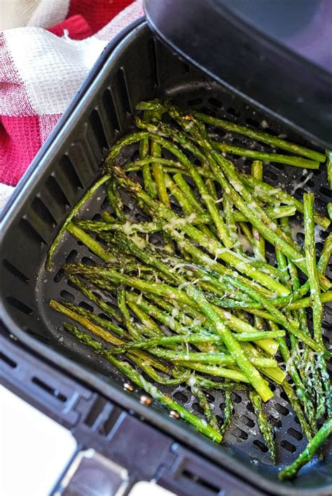 air fryer asparagus parmesan dish ninja seasonings meal bit any side