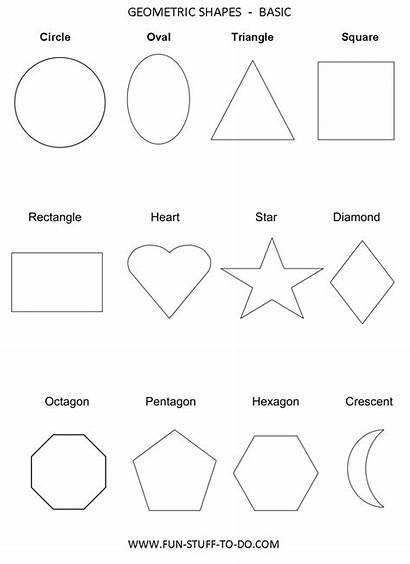 Shapes Basic Geometric Worksheets Shape Outline Printable