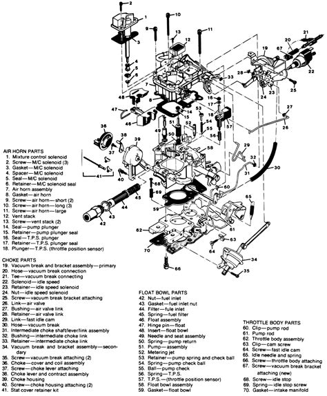 1994 Chevy S10 V6 Engine Diagram by 1983 Chevy S10 Diagram 2 8 Carburetor With Part Names