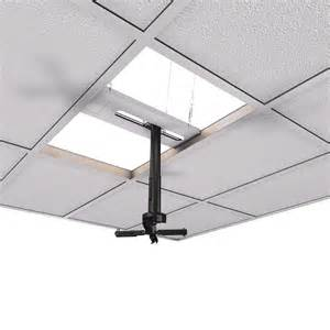 drop ceiling projector mount kit crimson 6 11 inch adjustable height suspended ceiling