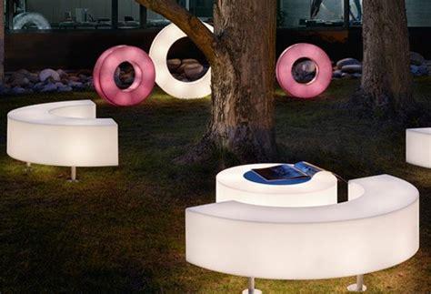 illuminated furniture light up patio furniture by modoluce