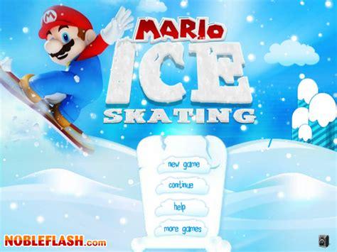 games  mario ice skating play