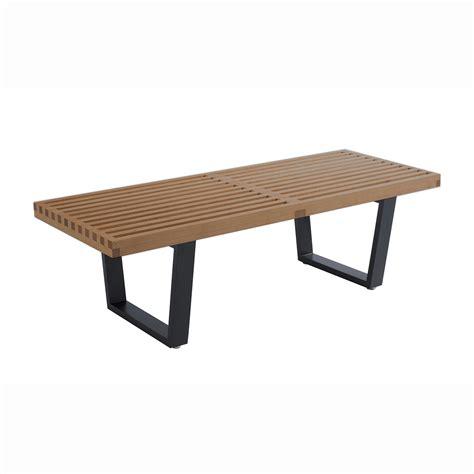 mid century bench mid century modern storage bench