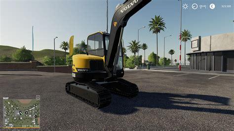 fs  volvo mini excavator  farming simulator  mod fs  mod ls