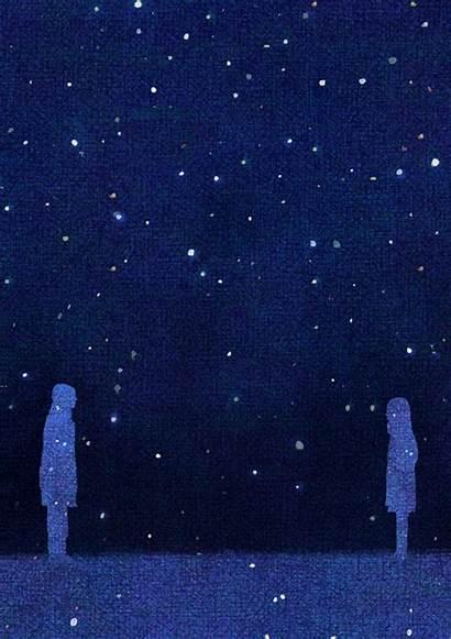 Night Starry Romantic Gifs Illustrations Nights Sky