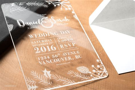 Clear Acrylic Invitation Cards + Free Invitation Templates