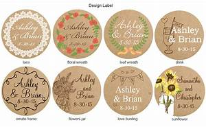 Vintage kraft personalized round labels 20 pieces for Kraft circle labels