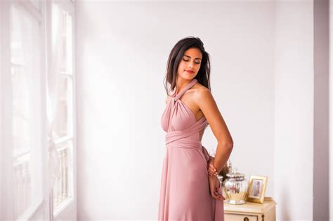 Romantic Powder Pink Bridesmaid Dress Long Light Pink