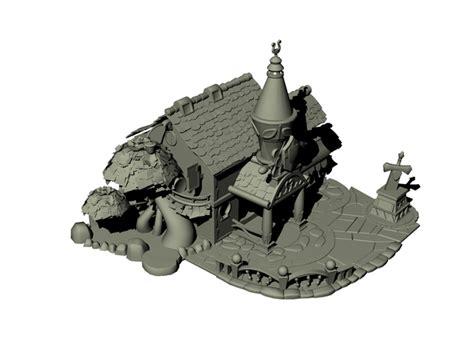 cartoon house  model dsmax files
