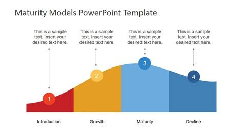 flat powerpoint product life cycle diagram slidemodel