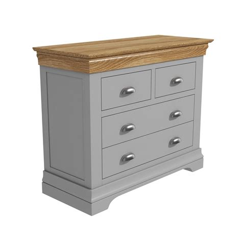 Bedroom Storage Drawers by Grey Chest Of Drawers Oak Top 2 2 Drawer Solid Wood