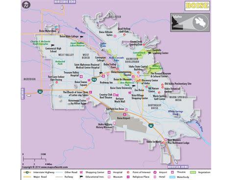 Buy Boise City Map