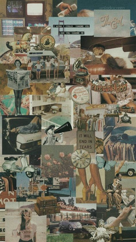 vintage aesthetic wallpaper collage 297110