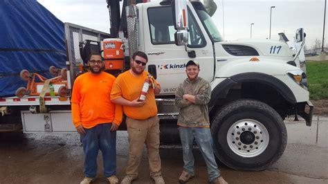 kinzler crew fights fire kinzler construction services