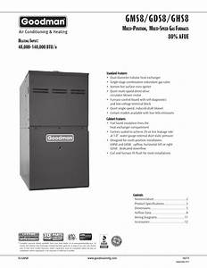 Goodman Mfg Gds8 User Manual